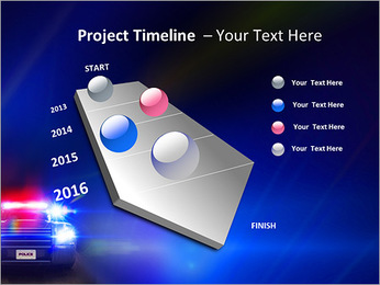 Police Car PowerPoint Template - Slide 6