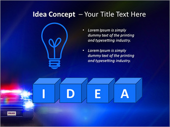 Police Car PowerPoint Template - Slide 60