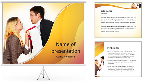 Colleagues' Conflict PowerPoint Template