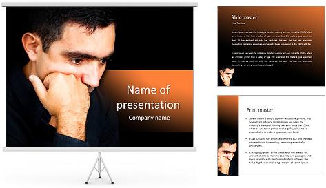 Depressed Man PowerPoint Template