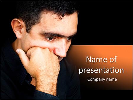 Depressed Man PowerPoint Templates