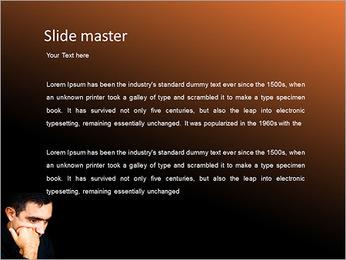 Depressed Man PowerPoint Template - Slide 2