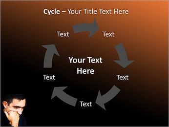 Depressed Man PowerPoint Template - Slide 42