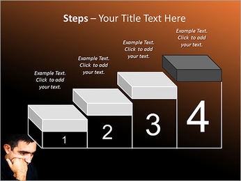 Depressed Man PowerPoint Templates - Slide 44