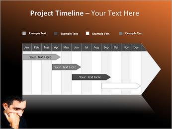Depressed Man PowerPoint Template - Slide 5