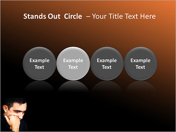 Depressed Man PowerPoint Templates - Slide 56