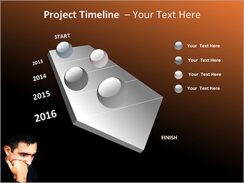 Depressed Man PowerPoint Templates - Slide 6