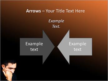 Depressed Man PowerPoint Templates - Slide 70