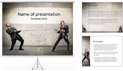 Pull Rope PowerPoint Template