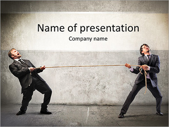 Pull Rope PowerPoint Template - Slide 1