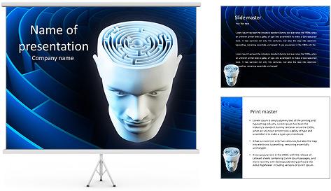 Brain Labyrinth PowerPoint Template