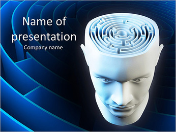 Brain Labyrinth PowerPoint Templates - Slide 1