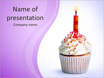 Birthday Cake PowerPoint Template - Slide 1