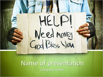 Need Money PowerPoint Template - Slide 1