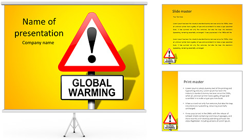 Global Warming Sign PowerPoint Template