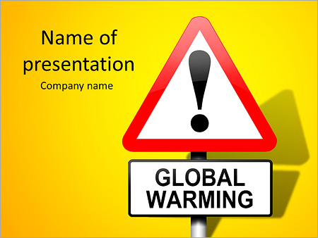 Global Warming Sign PowerPoint Templates