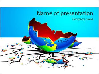 Global Crisis PowerPoint Template - Slide 1