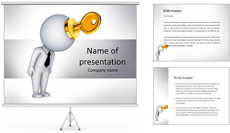 Key To Brain PowerPoint Template