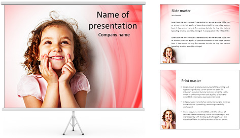 Funny Girl PowerPoint Template