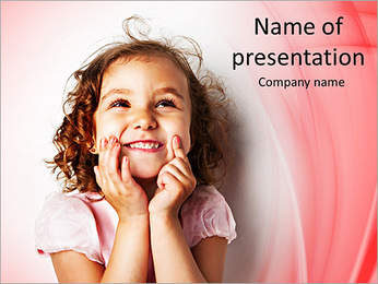 Funny Girl PowerPoint Template - Slide 1