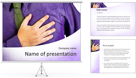 Pain In Heart PowerPoint Template