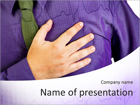 Pain In Heart PowerPoint Templates