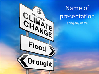 Climate Change PowerPoint Template - Slide 1