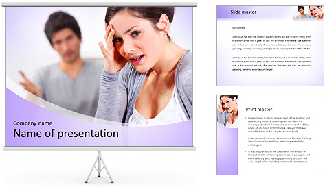 Offesned Woman PowerPoint Template