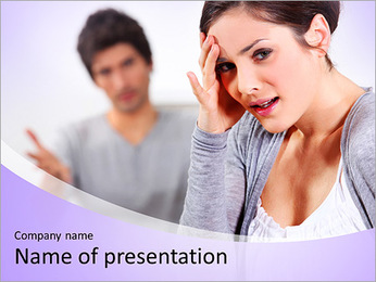 Offesned Woman PowerPoint Template - Slide 1
