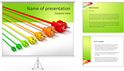 Colored Wire PowerPoint Template