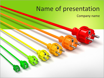 Colored Wire PowerPoint Template - Slide 1