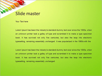 Colored Wire PowerPoint Template - Slide 2