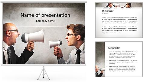 Colleagues Quarrel PowerPoint Template