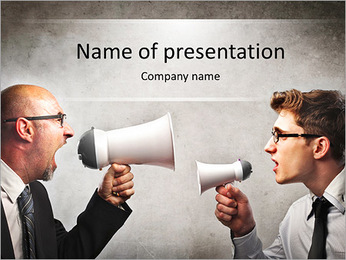 Colleagues Quarrel PowerPoint Template - Slide 1