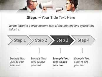 Colleagues Quarrel PowerPoint Template - Slide 4