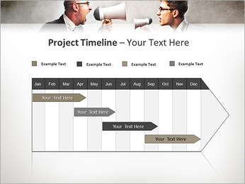 Colleagues Quarrel PowerPoint Template - Slide 5