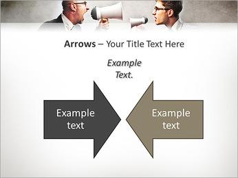 Colleagues Quarrel PowerPoint Template - Slide 70