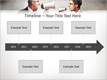 Colleagues Quarrel PowerPoint Template - Slide 8