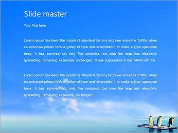 Penguins On Ice Floe PowerPoint Template - Slide 2
