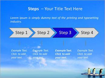 Penguins On Ice Floe PowerPoint Template - Slide 4