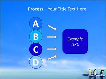 Penguins On Ice Floe PowerPoint Template - Slide 74