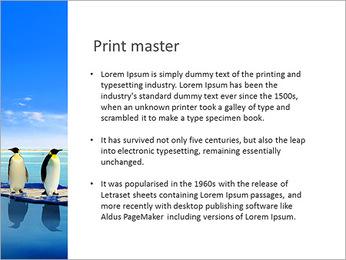Penguins On Ice Floe PowerPoint Template - Slide 76