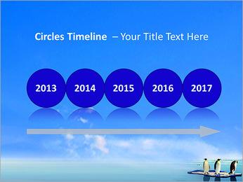 Penguins On Ice Floe PowerPoint Template - Slide 9