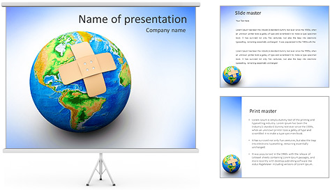 Plaster On Earth PowerPoint Template