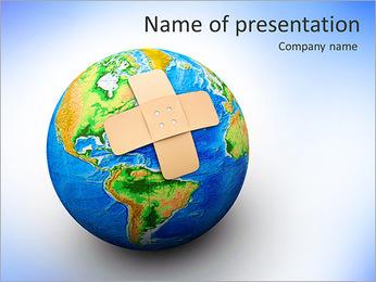 Plaster On Earth PowerPoint Templates - Slide 1
