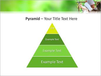 Reading In Hammock PowerPoint Template - Slide 10