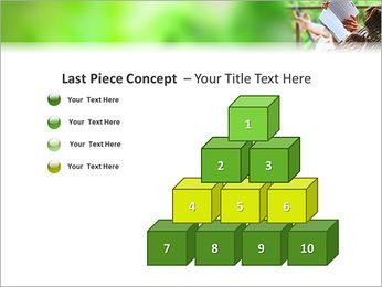 Reading In Hammock PowerPoint Template - Slide 11