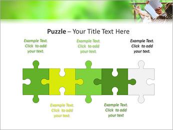 Reading In Hammock PowerPoint Template - Slide 21