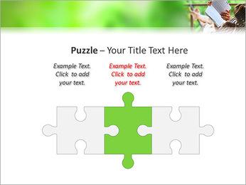 Reading In Hammock PowerPoint Template - Slide 22