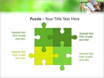 Reading In Hammock PowerPoint Template - Slide 23